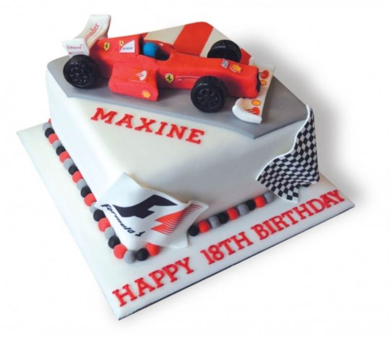 Fantastic F1 Cars Birthday Cake Funny Birthday Cards Online Alyptdamsfinfo