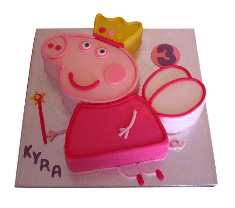 Fairy Peppa Pig 3rd Birthday Cake