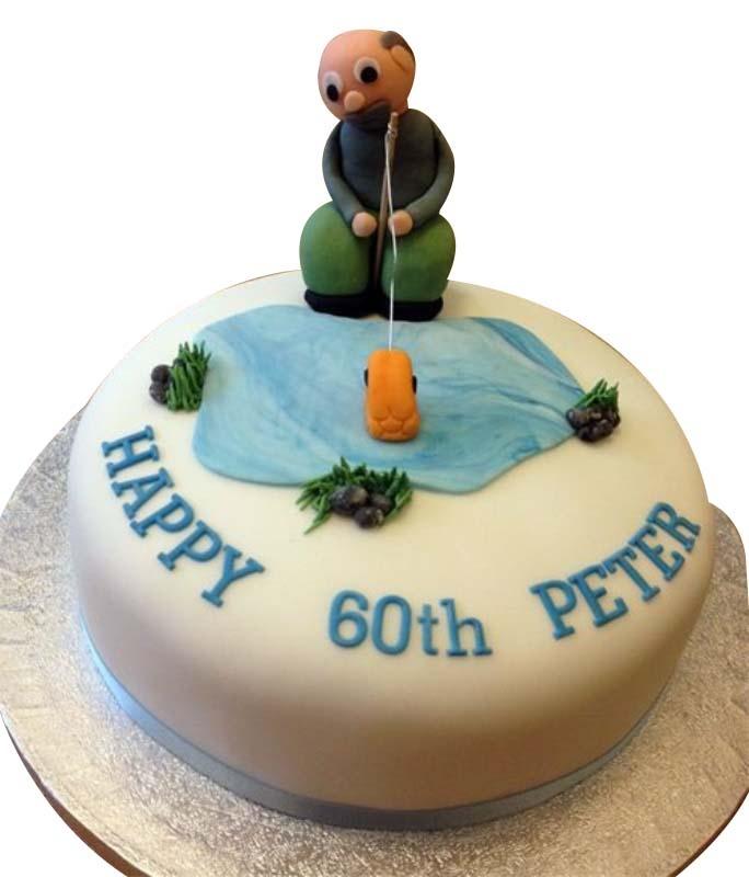 Astonishing Fishing Birthday Cake Personalised Birthday Cards Petedlily Jamesorg