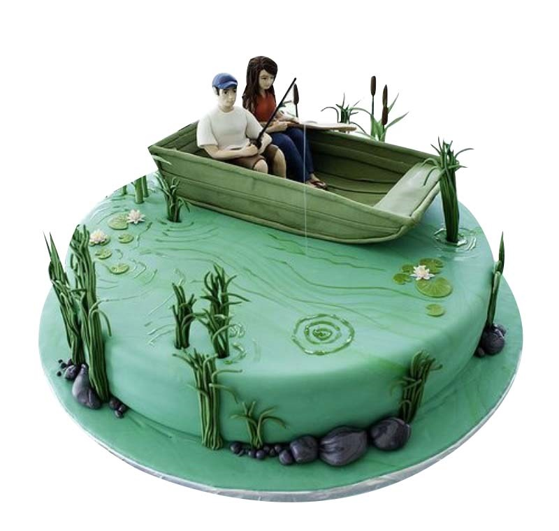 Prime Fishing Birthday Cake Funny Birthday Cards Online Elaedamsfinfo