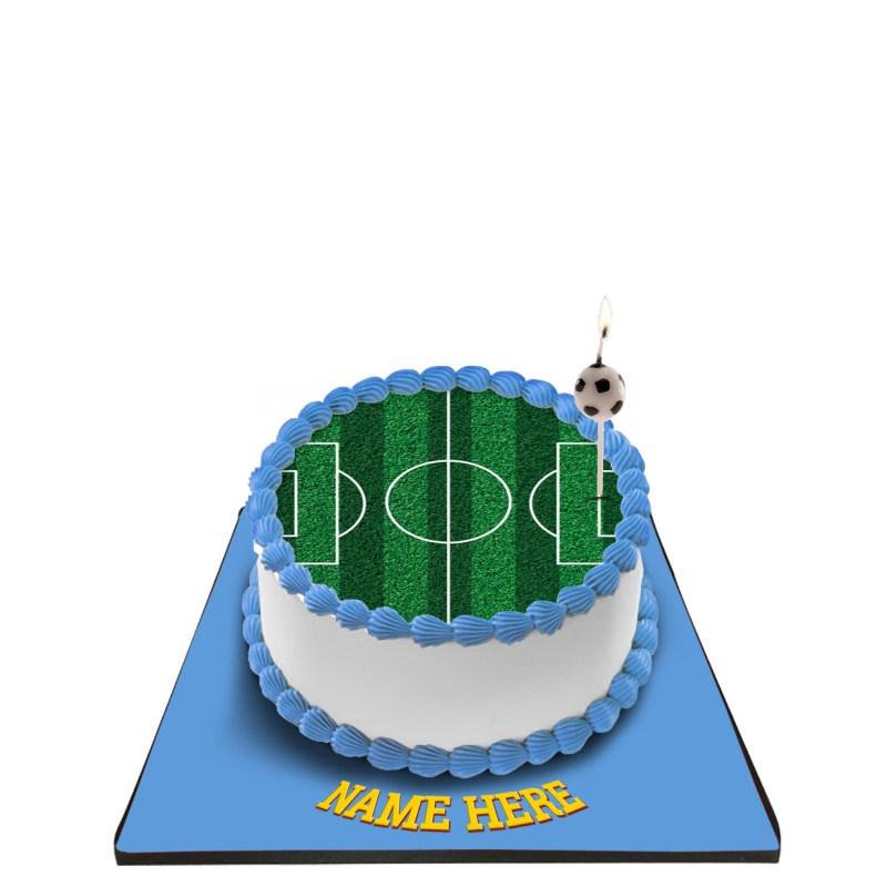 Football Cake with Football Candle