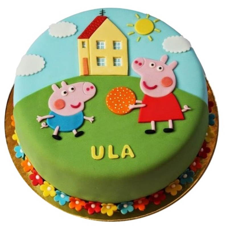 George & Peppa Pig Birthday Cake - Egg Free and Gluten Free sponge ...