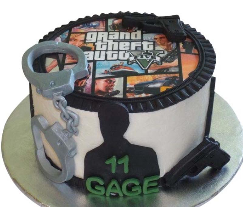 GTA Theme Cake