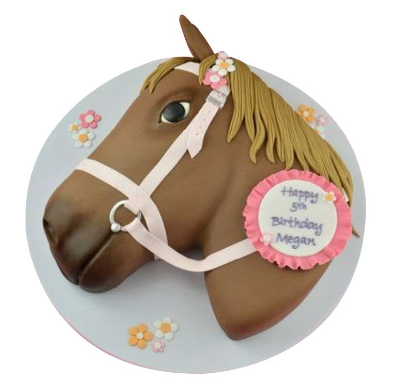 Marvelous Horse Birthday Cake For Kids Funny Birthday Cards Online Fluifree Goldxyz