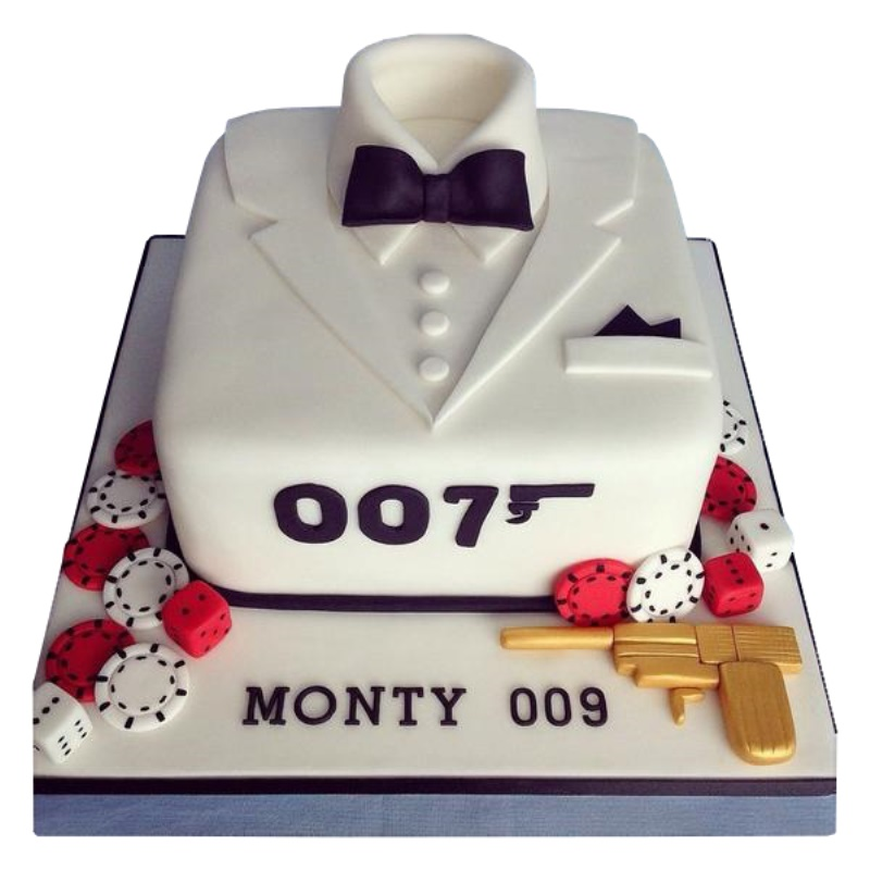 James Bond Birthday Cake For Boys