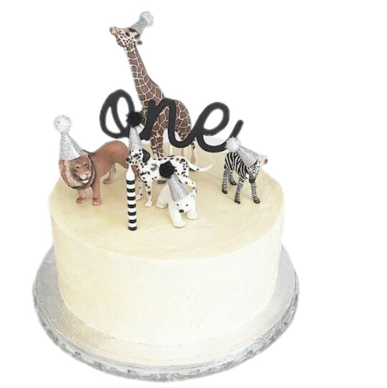 Brilliant Kids Birthday Cakes Jungle Animals Personalised Birthday Cards Cominlily Jamesorg