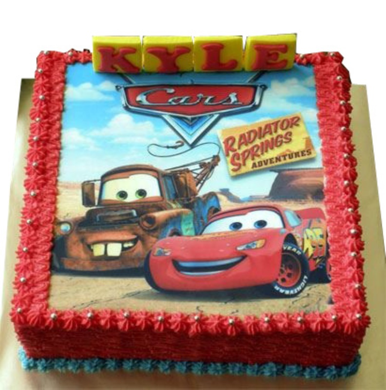 Phenomenal Lightning Mcqueen Theme Cars Birthday Cake Personalised Birthday Cards Cominlily Jamesorg