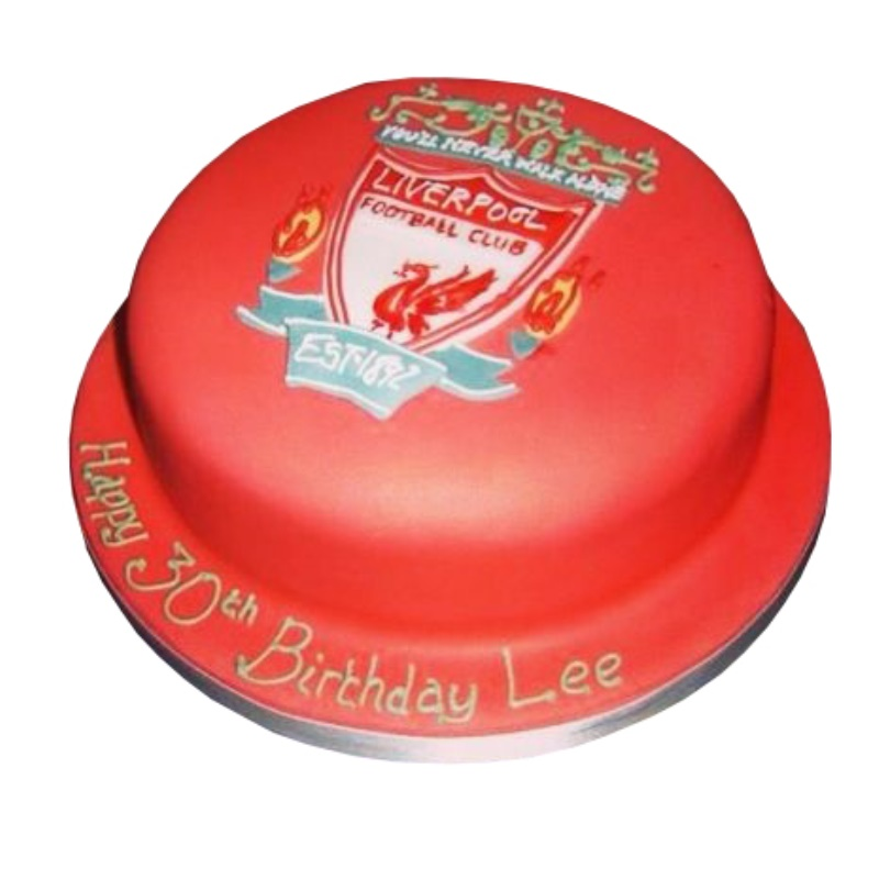 Superb Liverpool Football Club Cake Personalised Birthday Cards Paralily Jamesorg