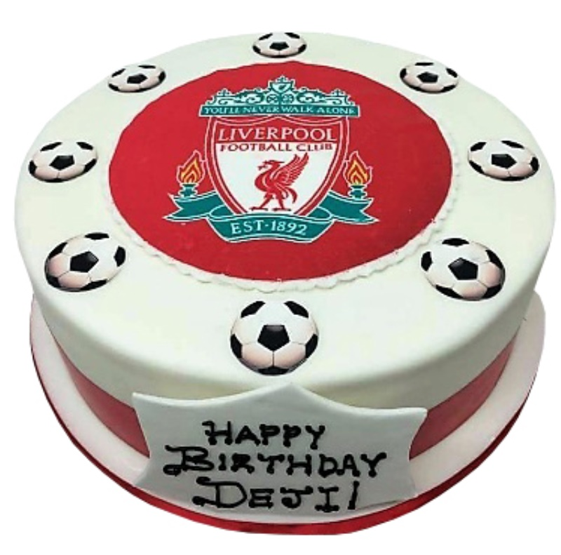 Marvelous Liverpool Football Club Cake Birthday Cards Printable Giouspongecafe Filternl