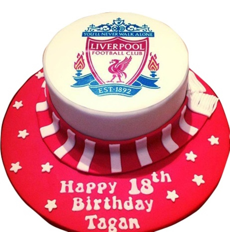 Liverpool football birthday cake