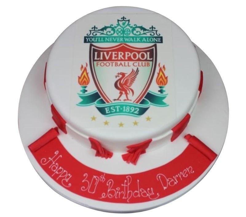 Liverpool Teacake 21st Birthday Cake Boy