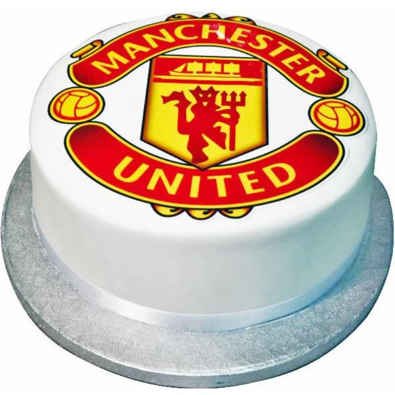 Peachy Manchester United Football Birthday Cake Birthday Cards Printable Giouspongecafe Filternl