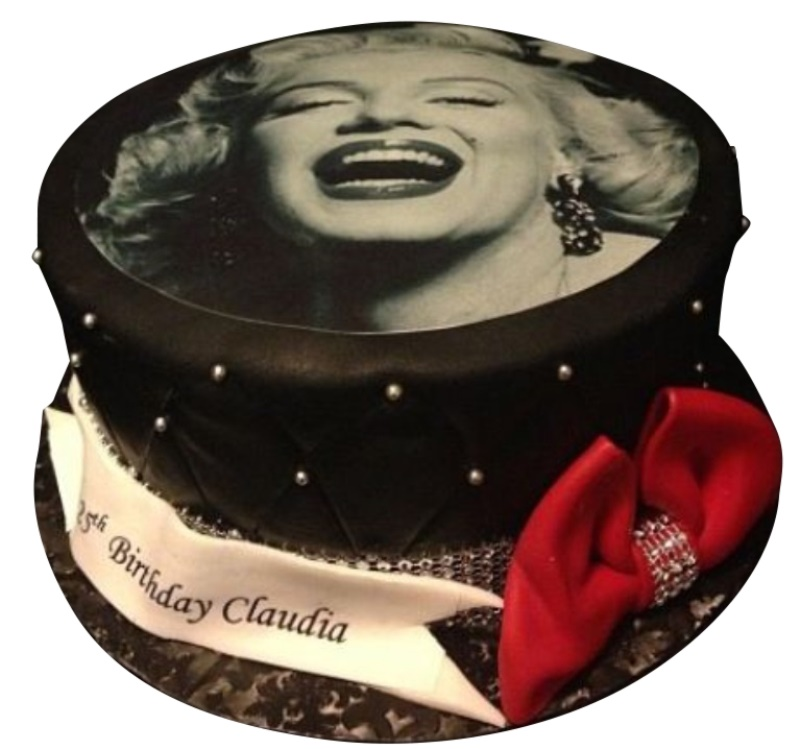Excellent Marilyn Monroe Cake Personalised Birthday Cards Paralily Jamesorg