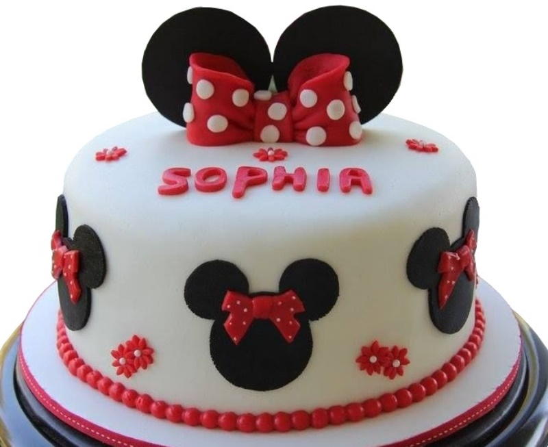 Amazing Minnie Mouse Birthday Cake Gluten Free Eggless Opitons Funny Birthday Cards Online Alyptdamsfinfo