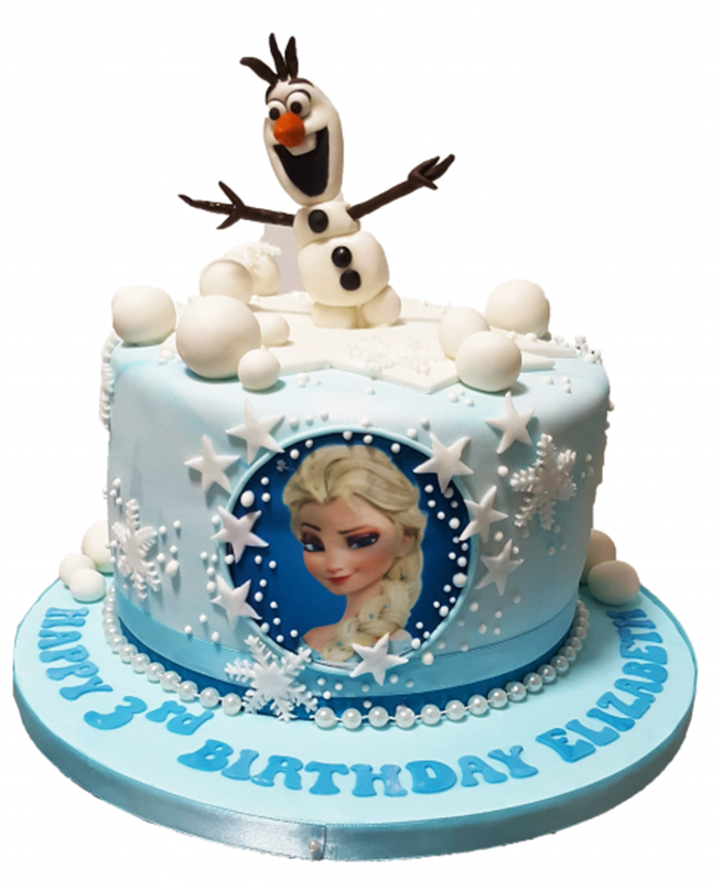 Admirable Princess Elsa Frozen Cake With Olaf Topper Funny Birthday Cards Online Fluifree Goldxyz