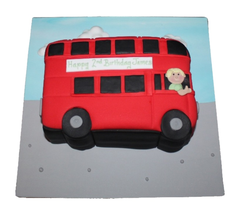 Swell Red Bus Cake Funny Birthday Cards Online Barepcheapnameinfo