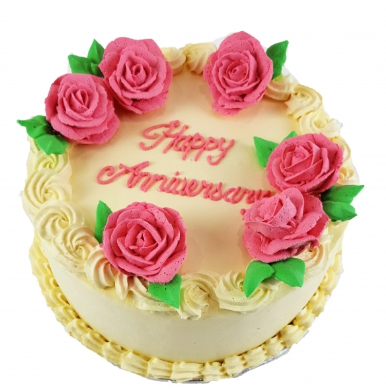 Rose Icing Birthday Cake