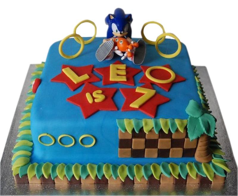 Pleasant Sonic Hedgehog Cake Personalised Birthday Cards Veneteletsinfo