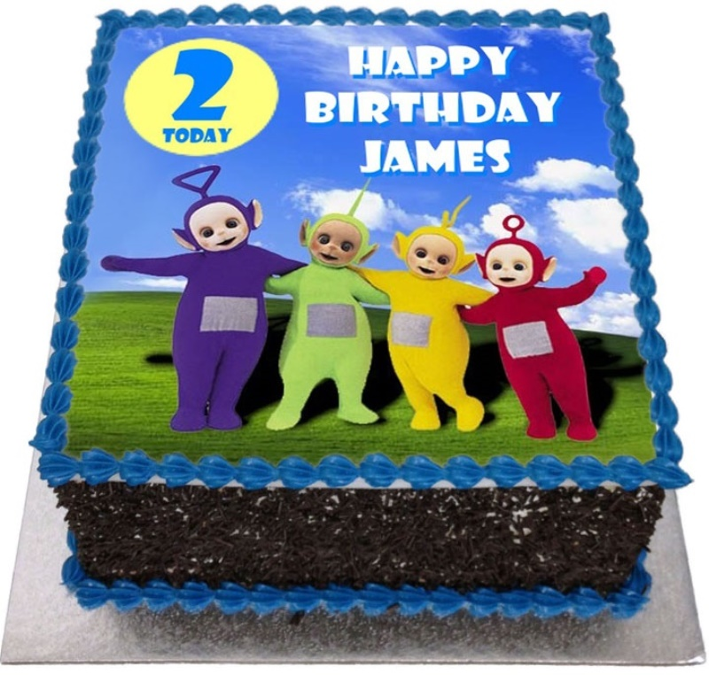 Brilliant Teletubbies Kids Birthday Cake Birthday Cards Printable Nowaargucafe Filternl