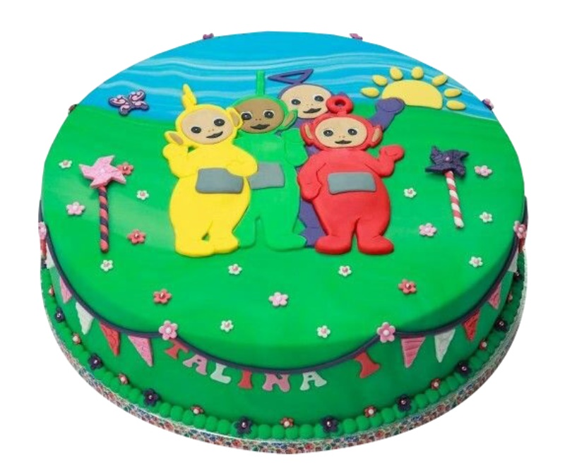 Outstanding Teletubbies Kids Birthday Cake Funny Birthday Cards Online Elaedamsfinfo