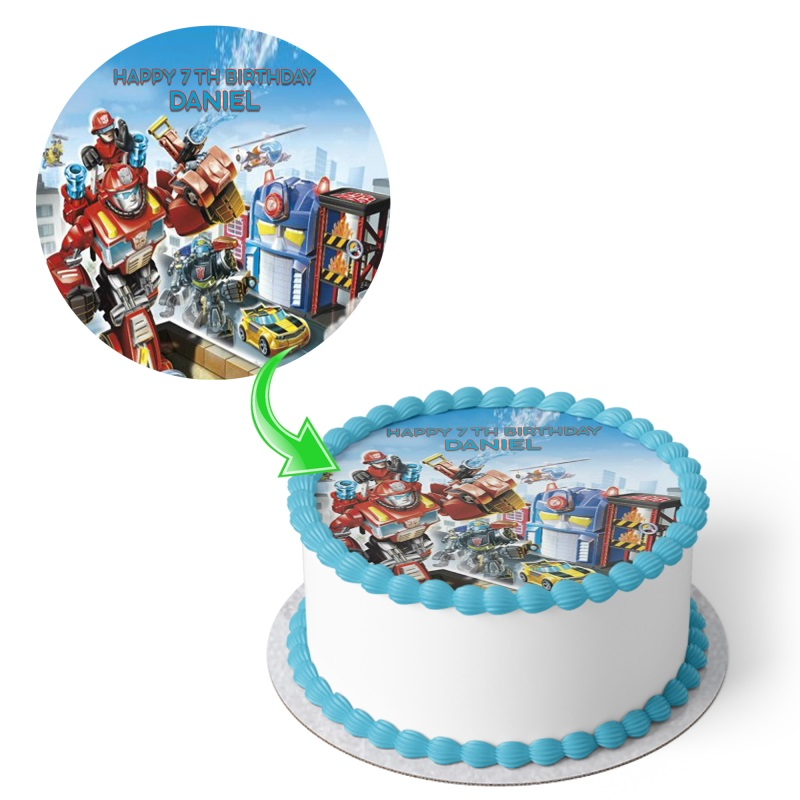 Miraculous Transformers Birthday Cake Funny Birthday Cards Online Alyptdamsfinfo