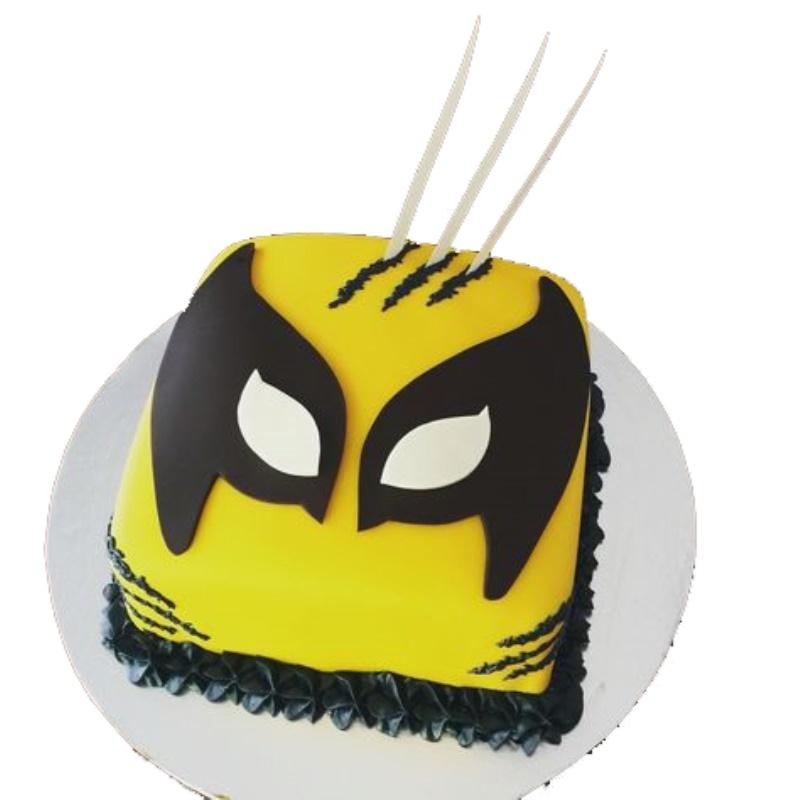 Awesome Wolverine Cake Personalised Birthday Cards Veneteletsinfo